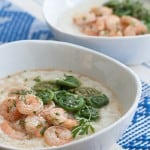 Secret Recipe Club: Lemon-Garlic Shrimp and Grits