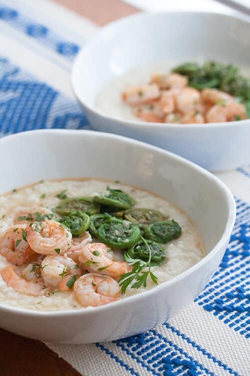 Secret Recipe Club: Lemon-Garlic Shrimp and Grits
