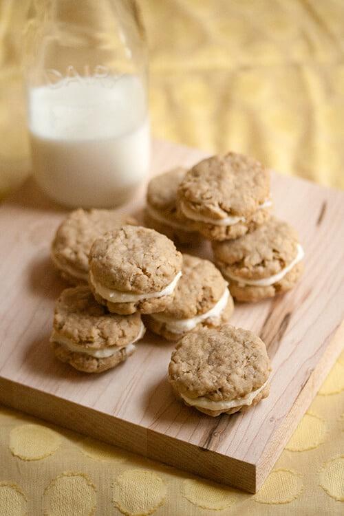 Pucker Up: Lemon Oatmeal Creme Cookies