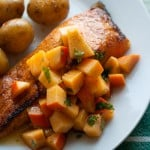 Simon Says: Broiled Salmon with Persimmon-Lime Salsa