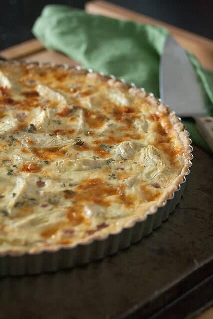 Ham and Artichoke Quiche with Rye-Mustard Crust - Crumb: A ...