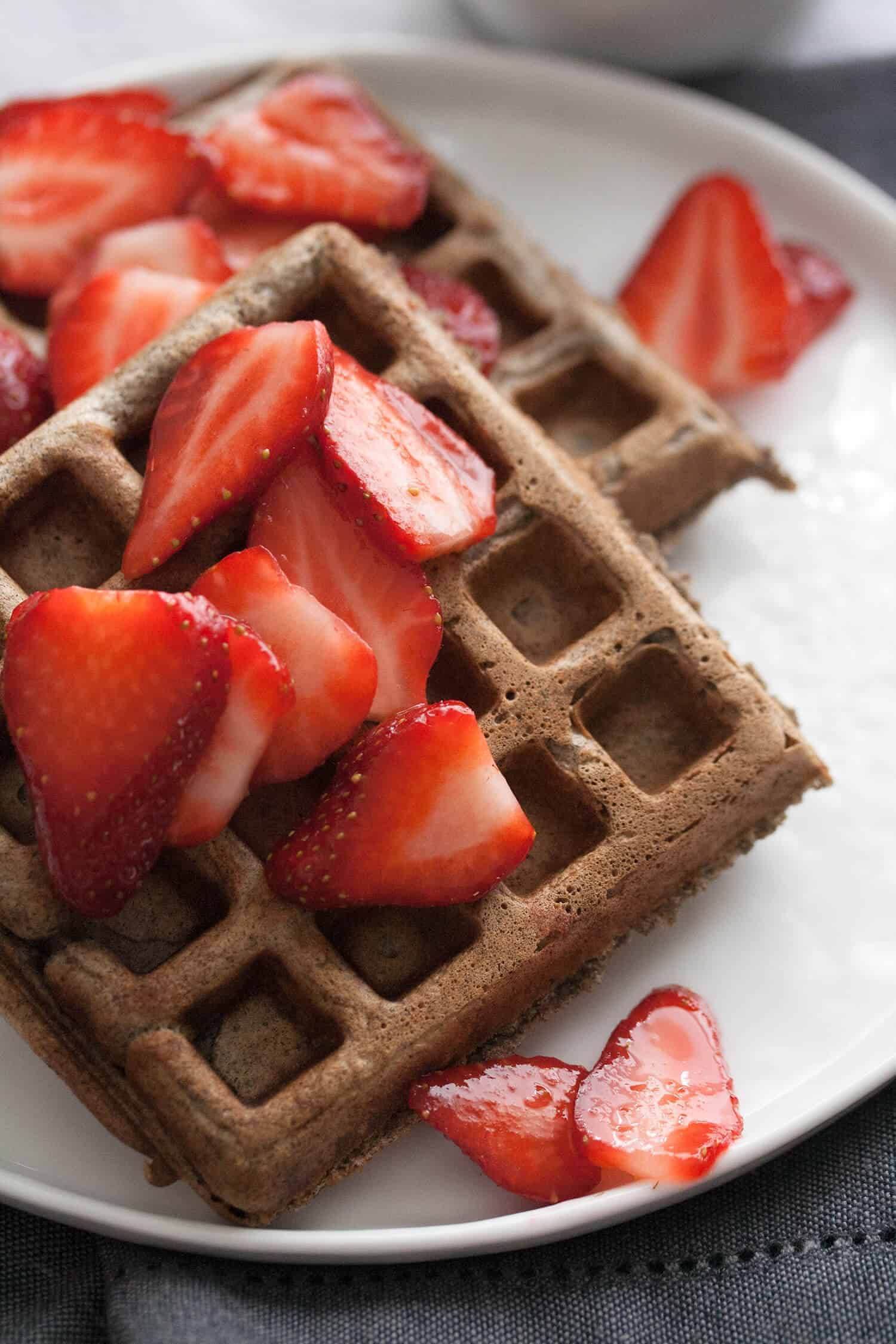 Berried Treasure: Buckwheat Waffles with Macerated Strawberries