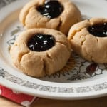 That's My Jam: Peanut Butter and Jelly Thumbprint Cookies