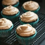 Mocha Cupcakes with Cappuccino Frosting