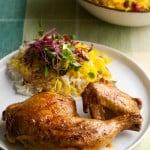 Anniversary Grilled Chicken with Saffron and Preserved Lemon