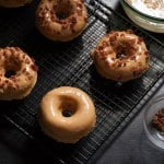 Maple Peanut Butter Donuts with Bacon