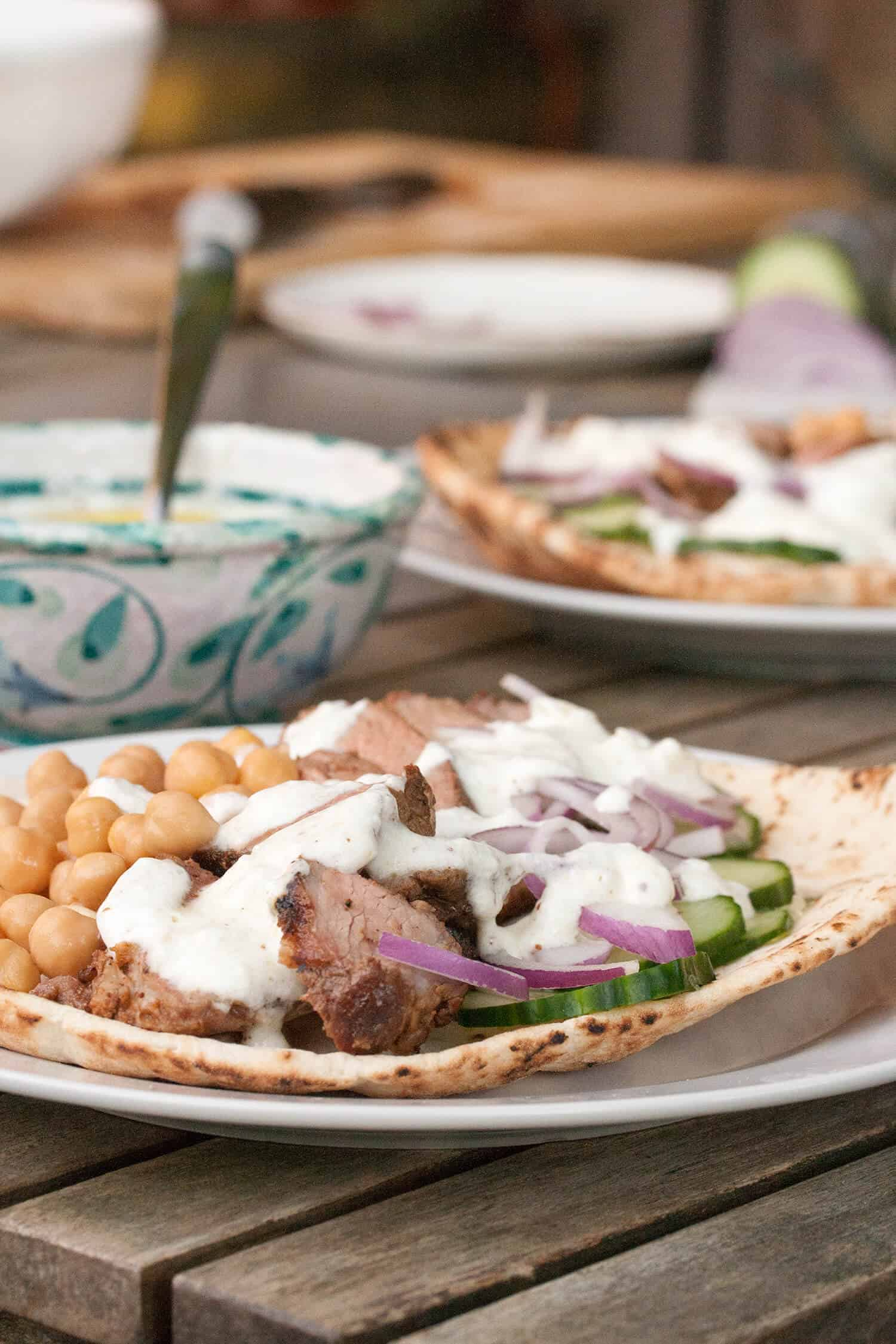 Wrap Star: Moroccan-Spiced Grilled Lamb Wraps