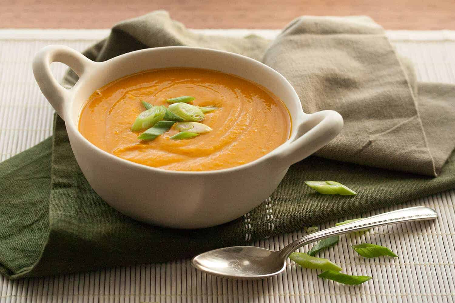 Kabocha Squash Soup with Miso and Maple
