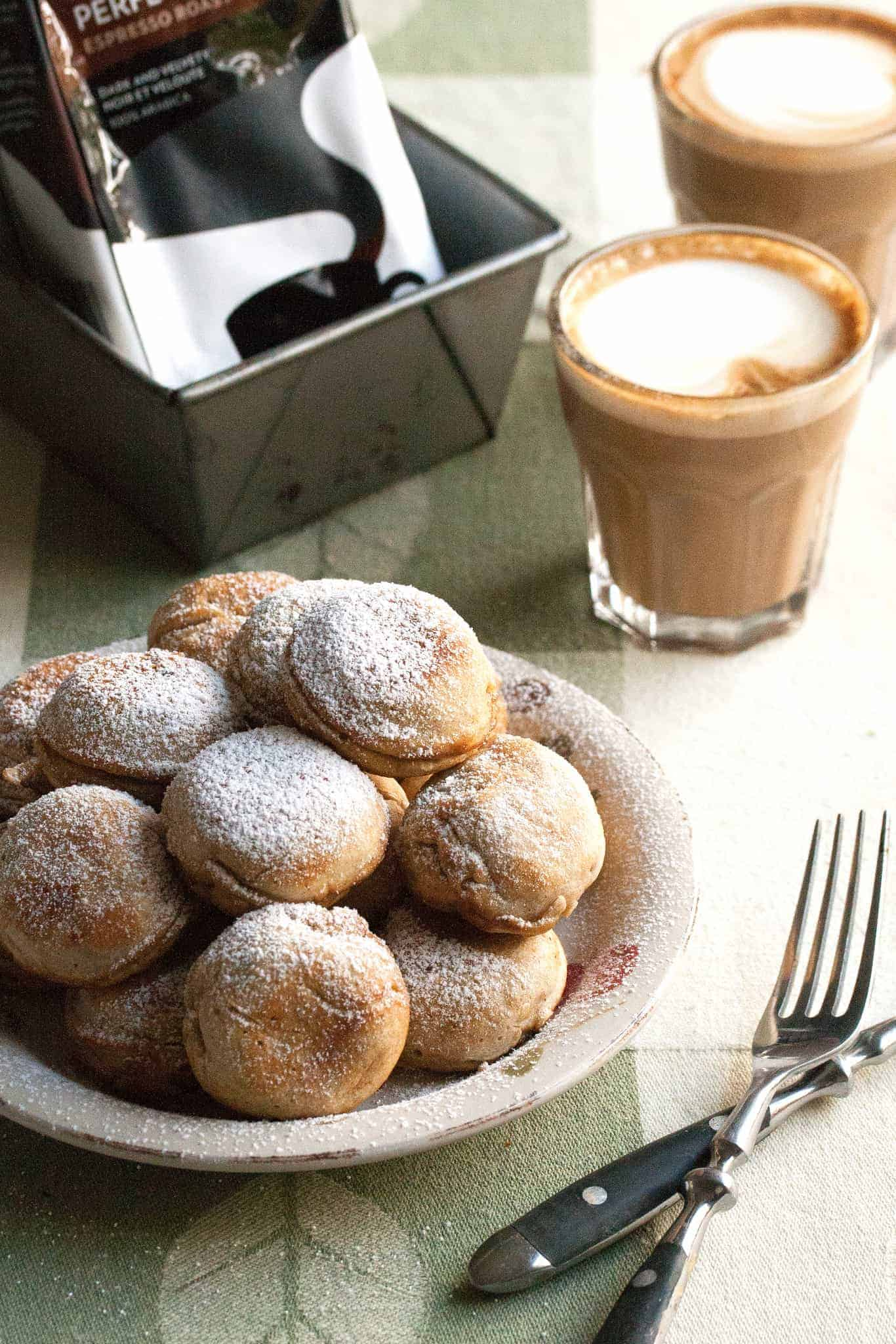 Spiced Pear Aebelskivers (Danish Pancakes)