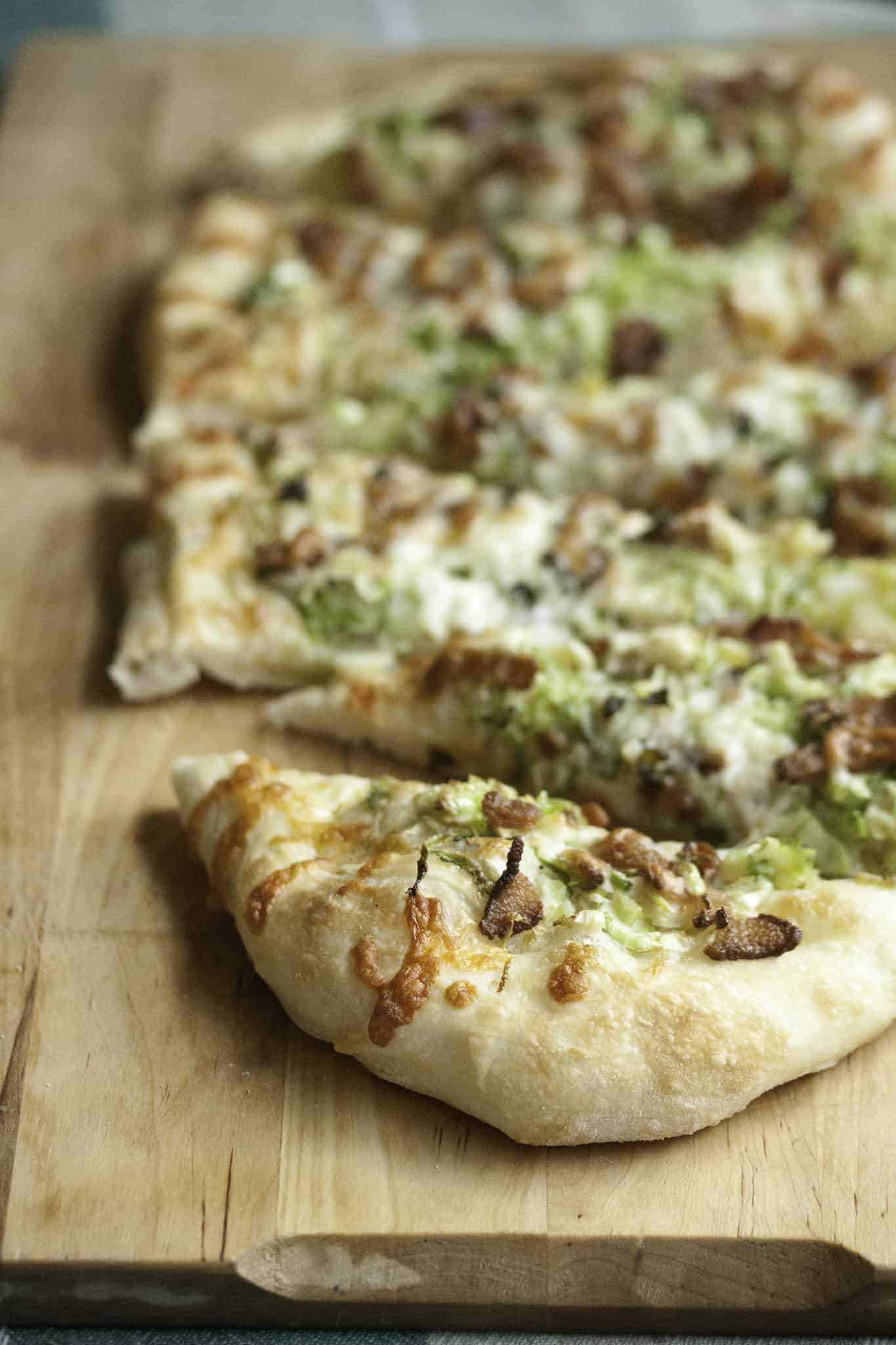 Twist and Sprout: Brussels Sprout and Bacon Pizza