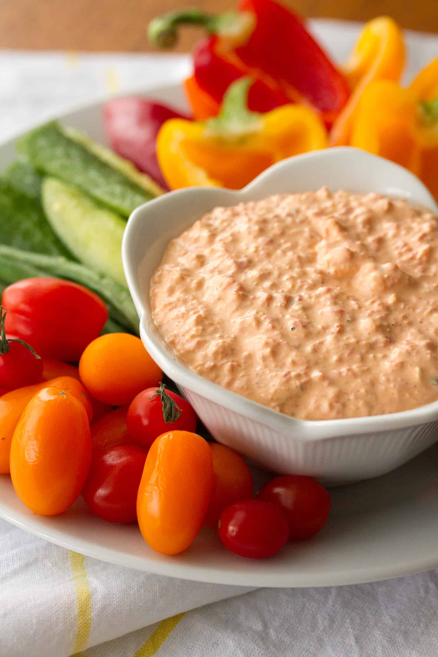Ridiculously Easy Roasted Red Pepper Dip - Crumb: A Food Blog