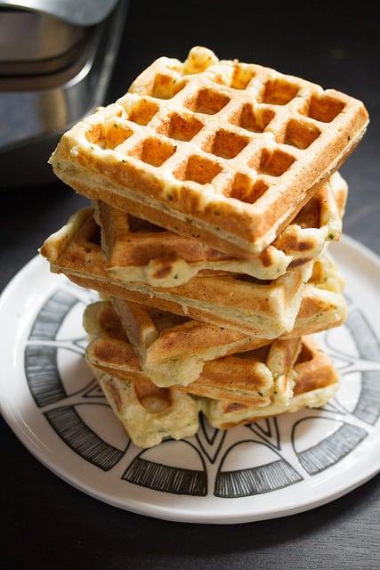 Savory Herbed Ricotta Waffles