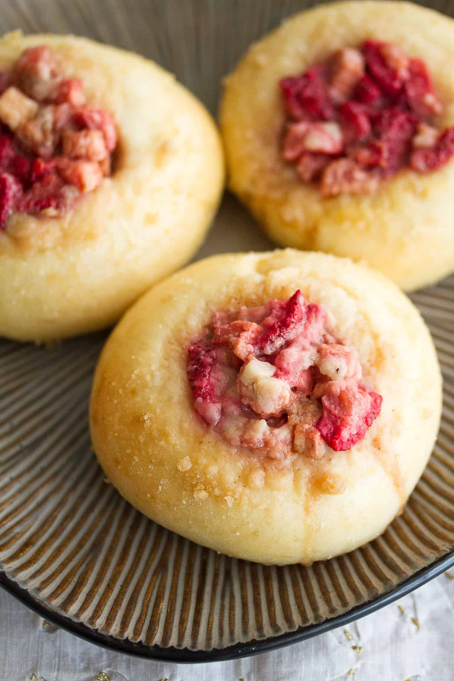 Berried Treasures: Strawberry Rhubarb Streusel Buns