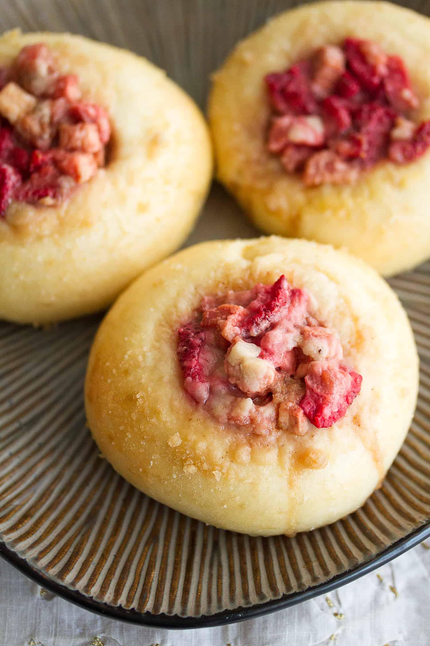 Berried Treasures: Strawberry Rhubarb Streusel Buns
