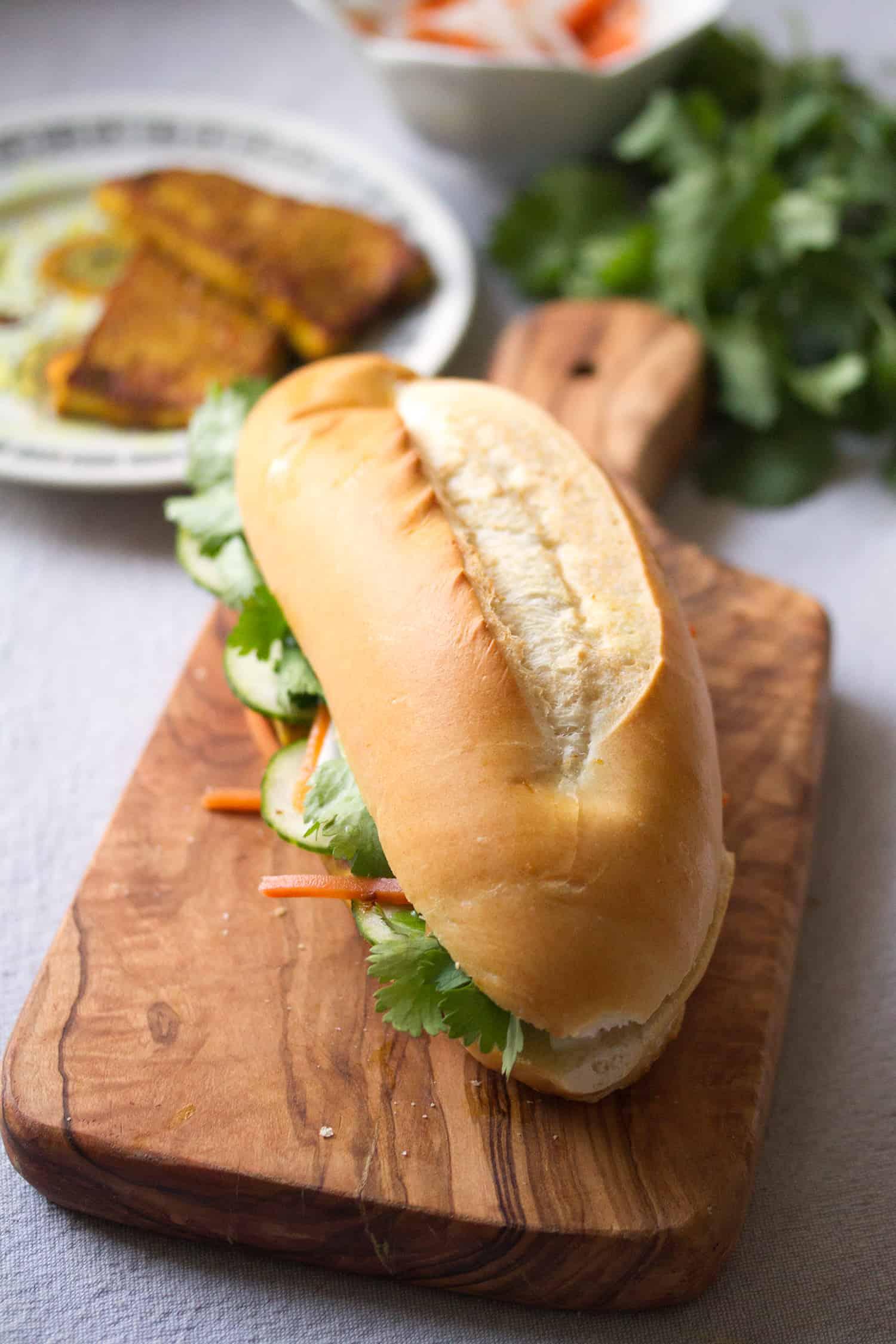 The (Lemon)grass is Always Greener: Lemongrass Tofu Banh Mi Sandwiches