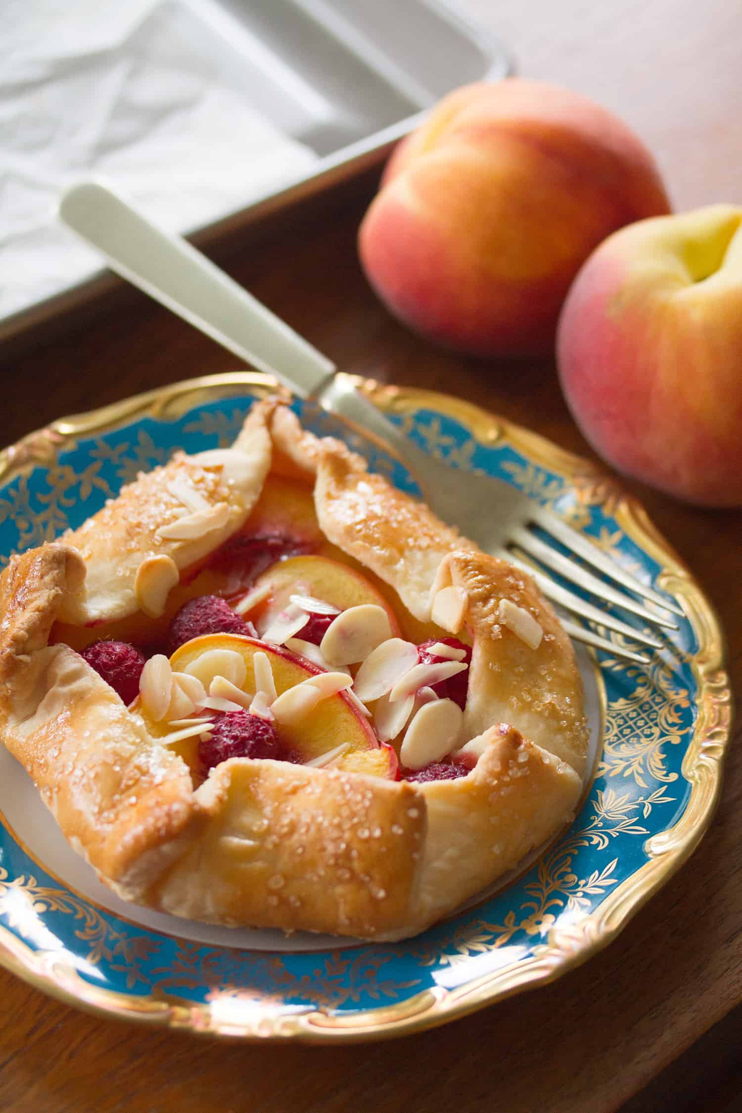 Just Peachy: Peach Melba Galettes