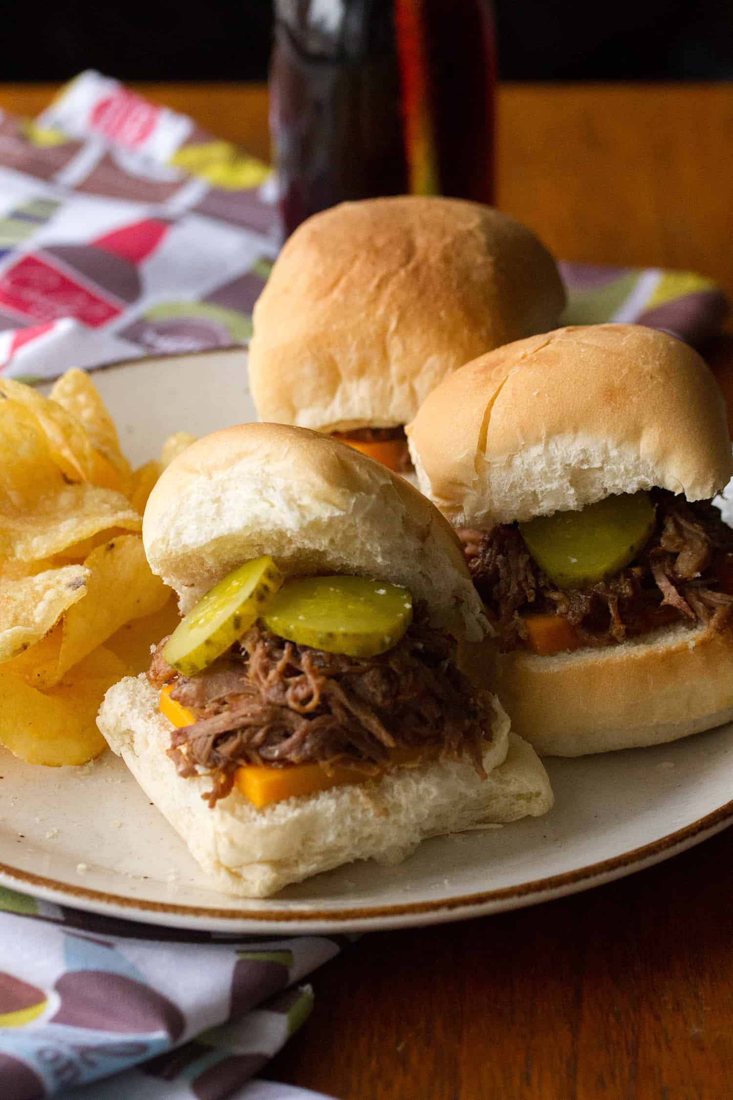 Dude Food: Root Beer Pulled Pork Sliders (Slow Cooker or Instant Pot)