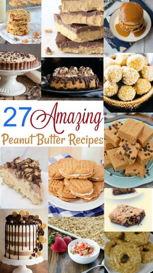 Peanut Butter Lovers Day Recipe Collage