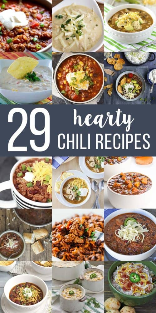 Chili Recipe Collage