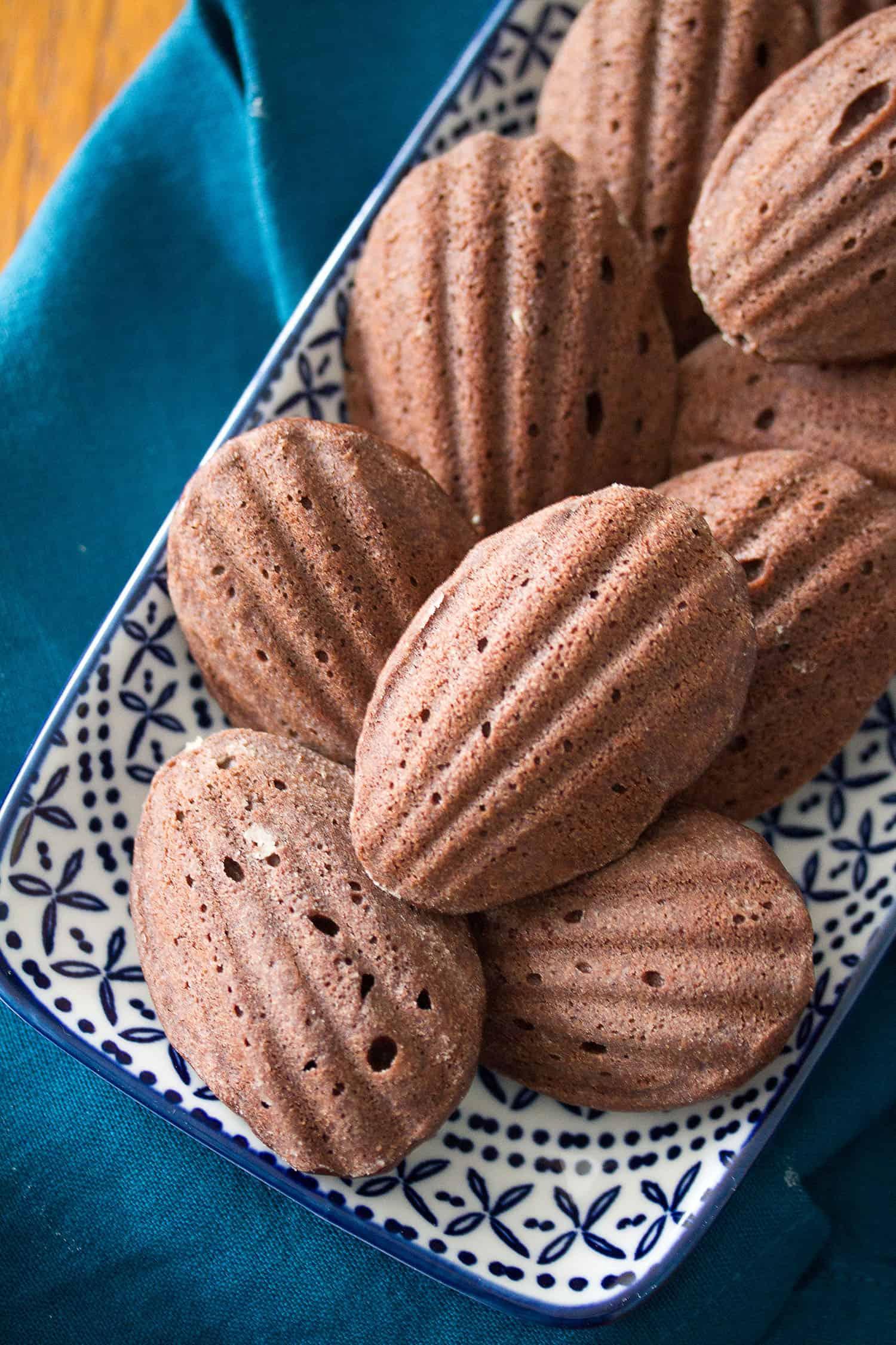 Spicy Chocolate Madeleines