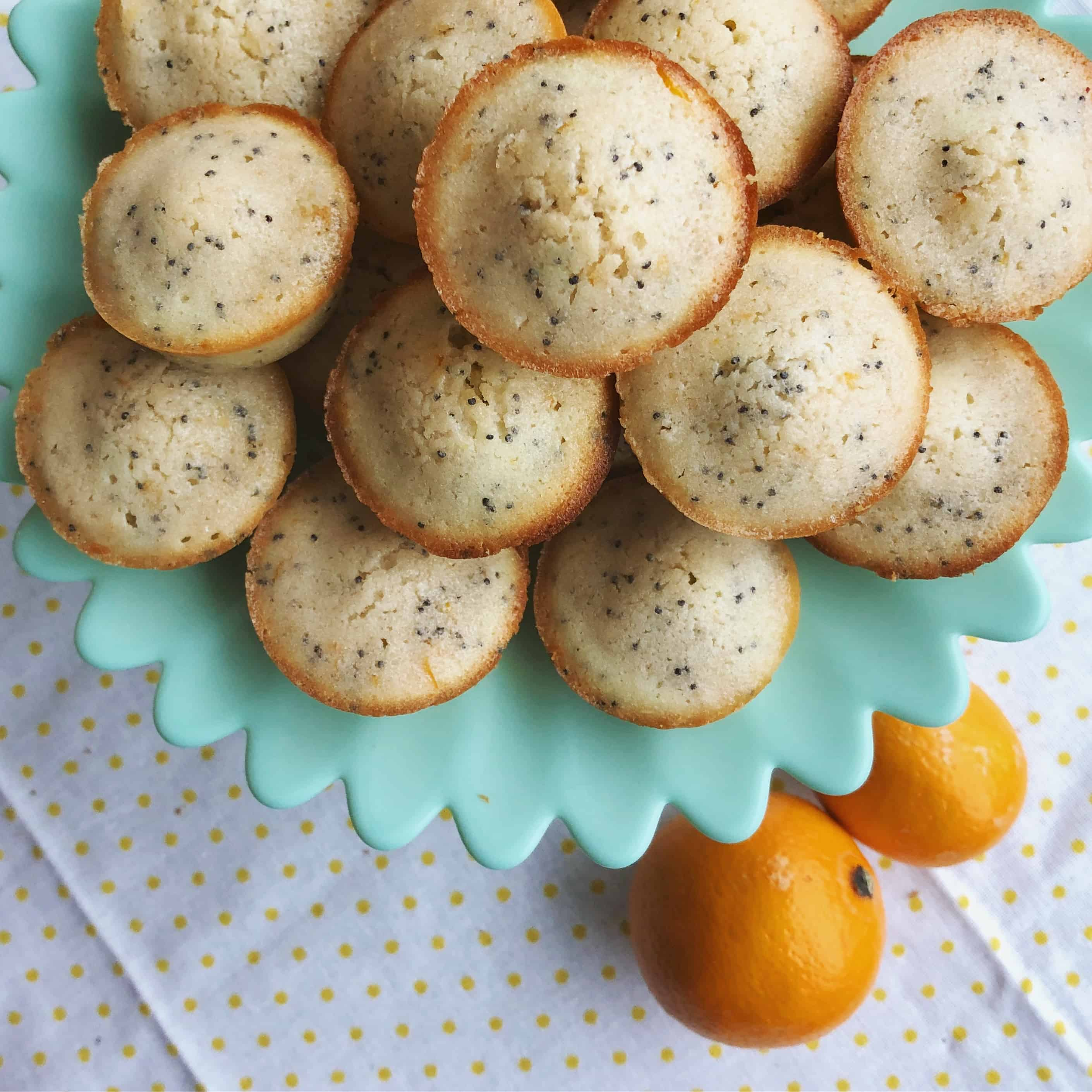 Meyer Lemon Poppyseed Tea Cakes