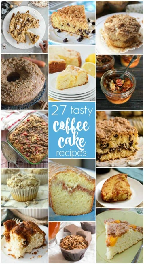 Coffee Cake Day Collage