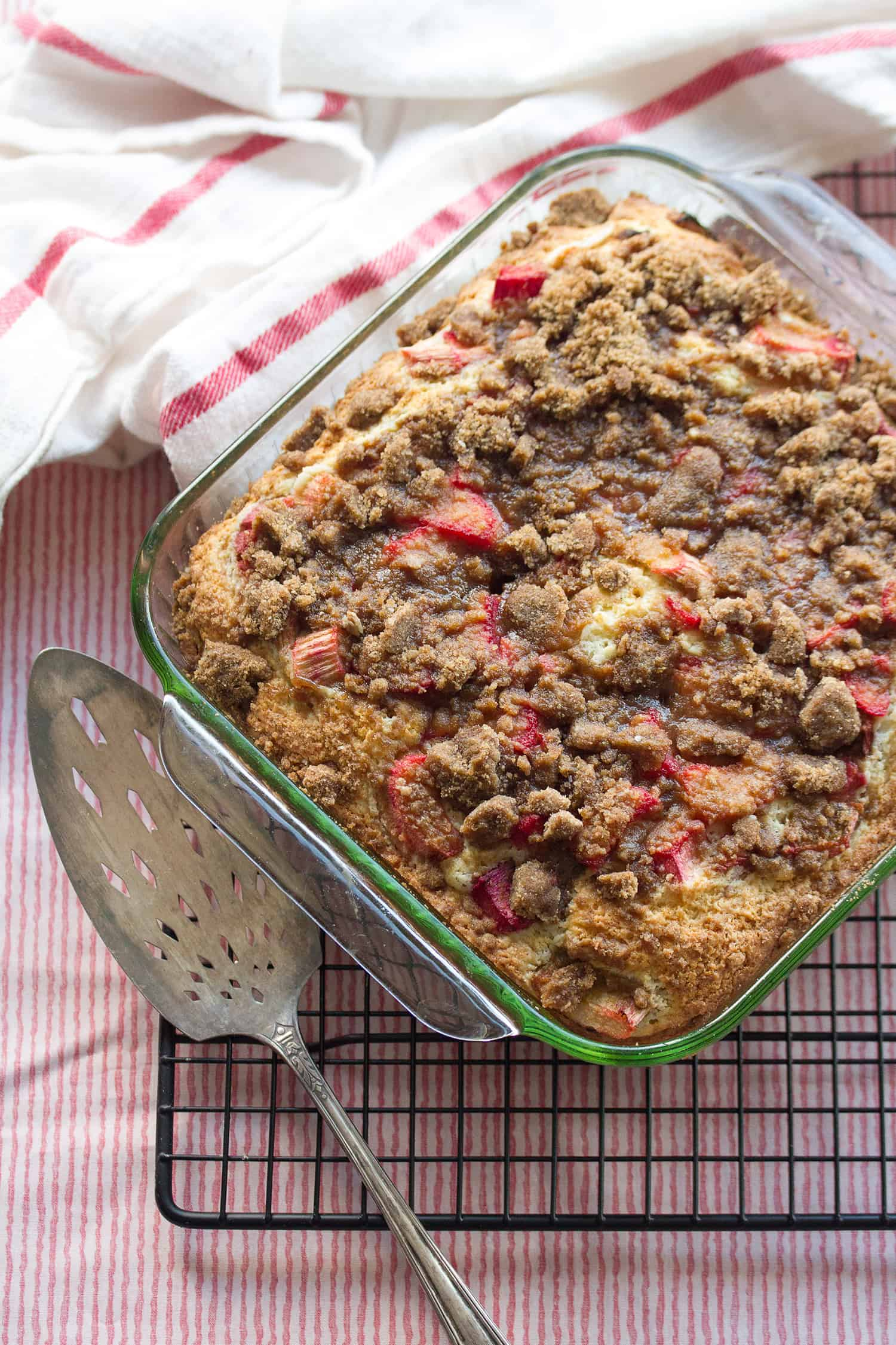 Lemon Rhubarb Coffee Cake