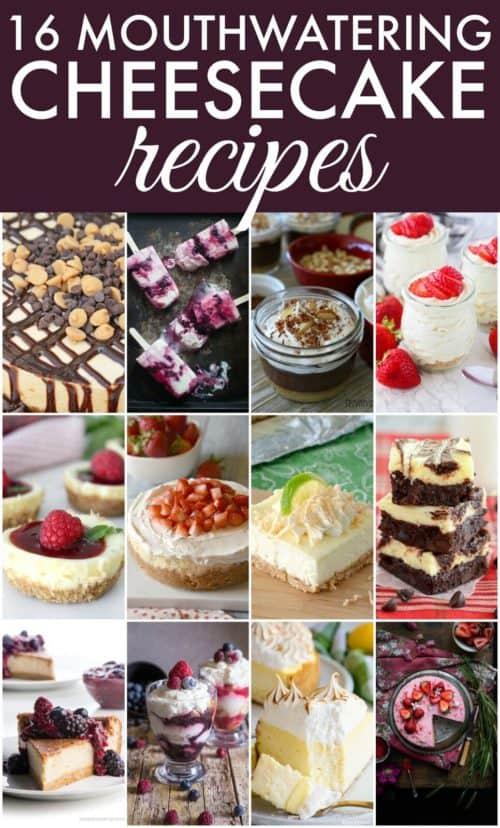 Cheesecake Recipe Collage