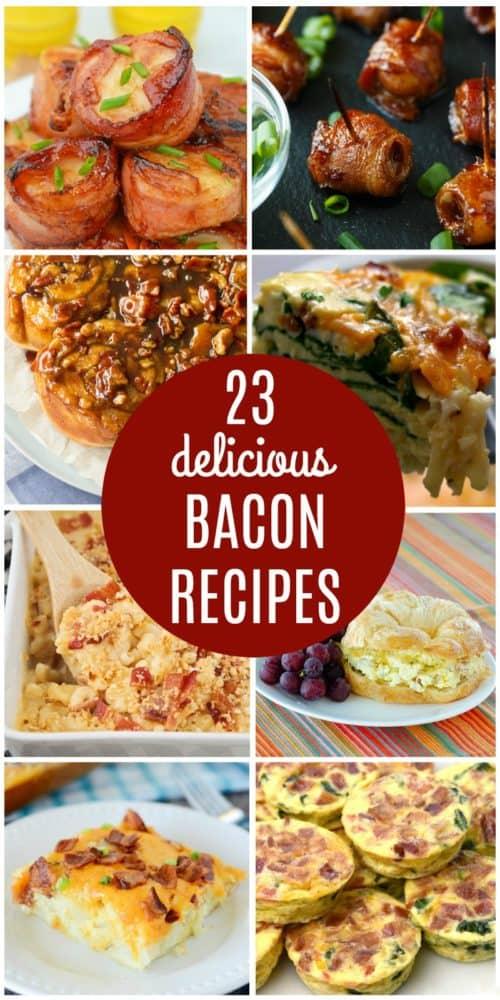 Bacon Recipe Collage