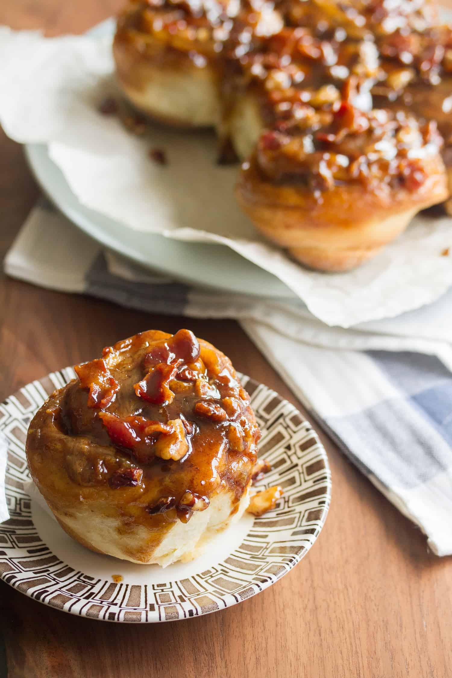 Maple-Bourbon Bacon Sticky Buns