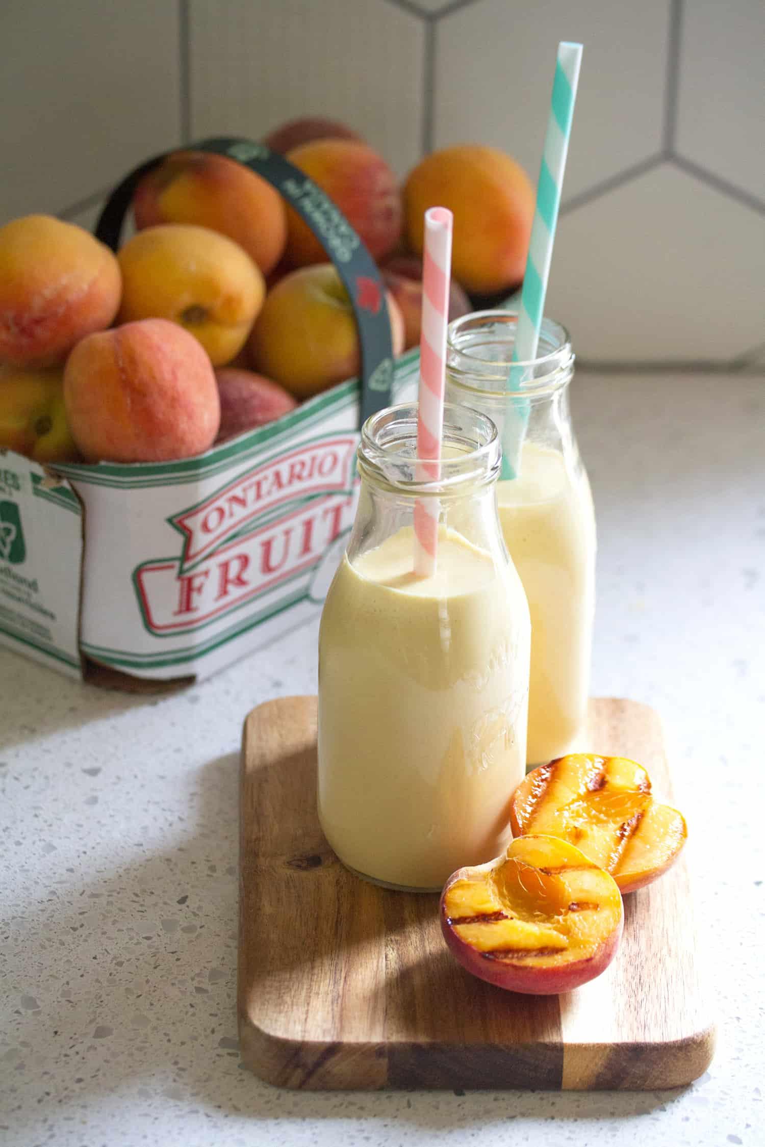 Grilled Peach Lassi
