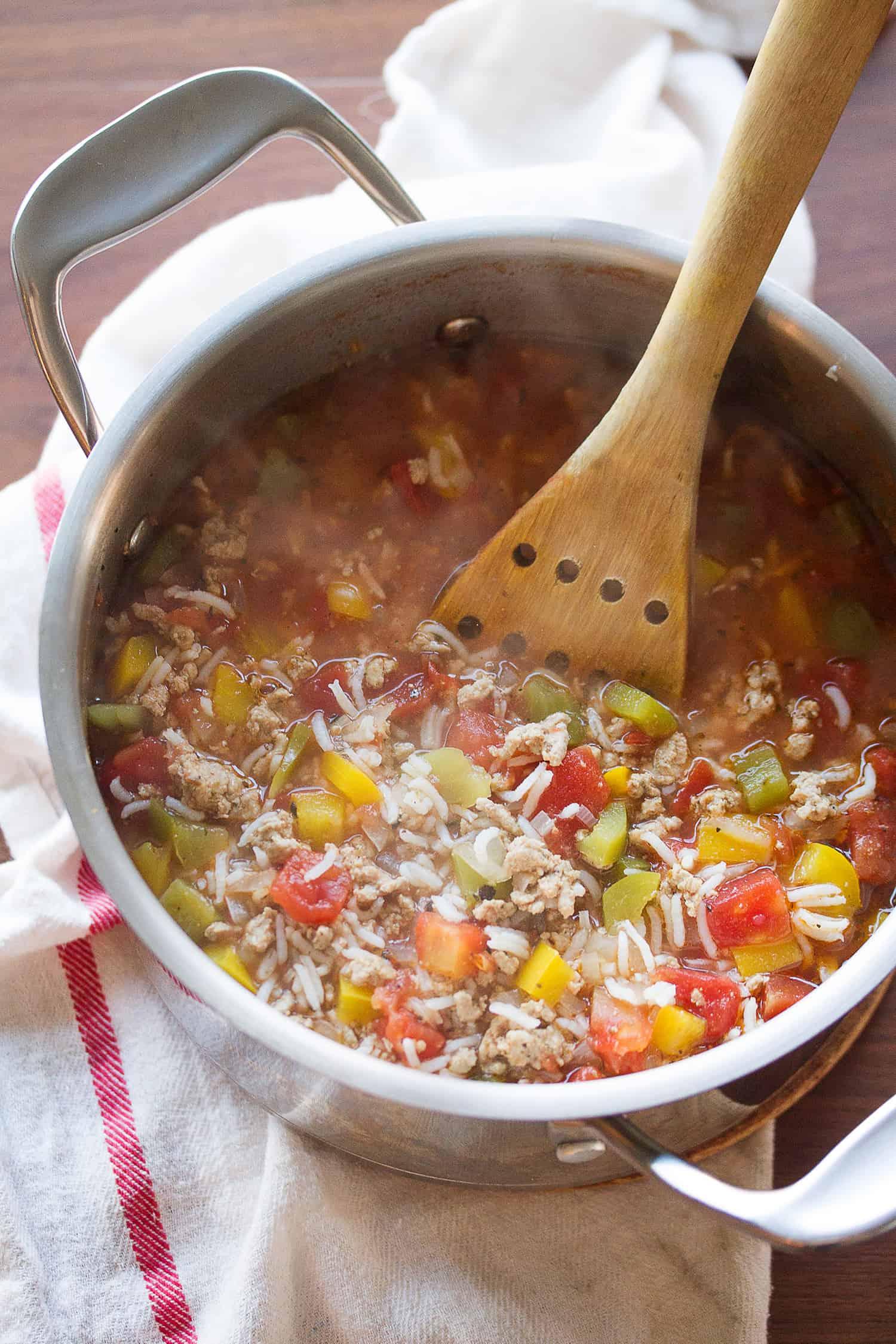 Turkey Stuffed Pepper Soup