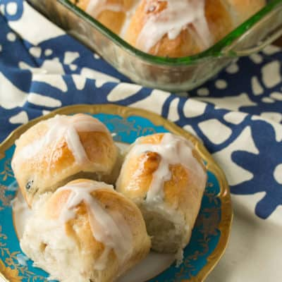 One a Penny: Blueberry, Almond and Lemon Hot Cross Buns