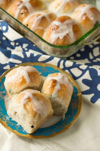 Blueberry, Almond and Lemon Hot Cross Buns