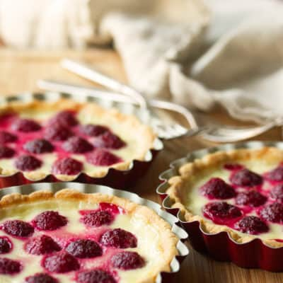 Shmecks Appeal: Fresh Raspberry Custard Tarts