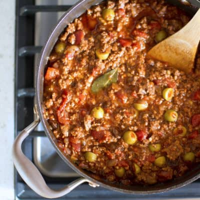Chop Chop: Big Batch Saucy Picadillo