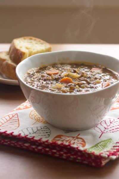 Lentil-Bacon Soup