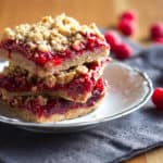 Raspberry-Rhubarb Crumble Bars