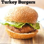 Pinterest Image for Air Fried Turkey Burger
