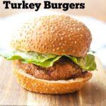 Pinterest Image for Air Fried Turkey Burger