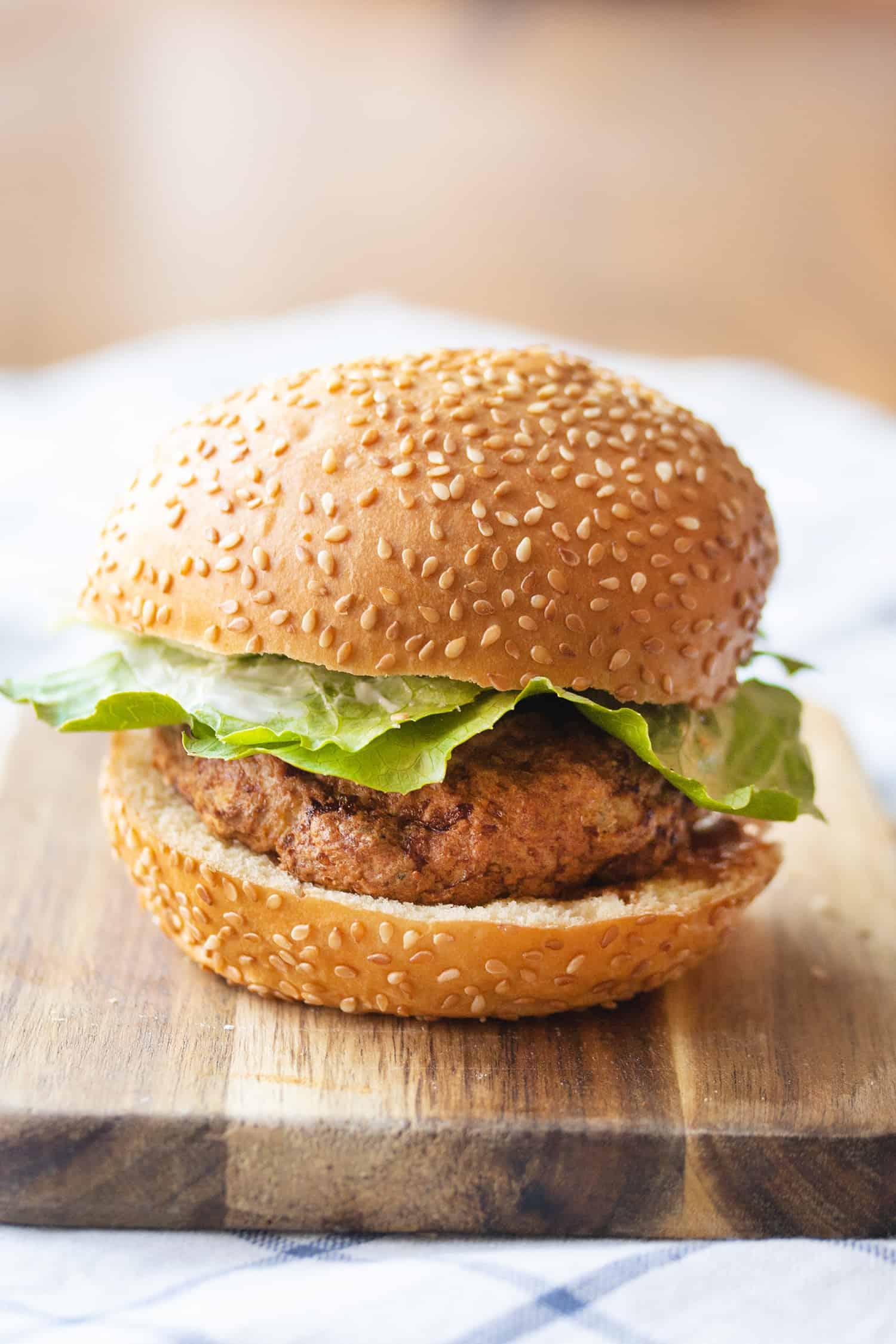 Air-Fried Turkey Burger